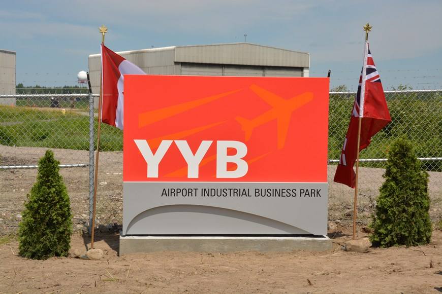 Sign for Airport Industrial Business Park