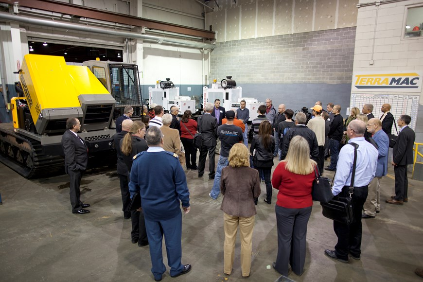Industry Day guests touring Motion Canada