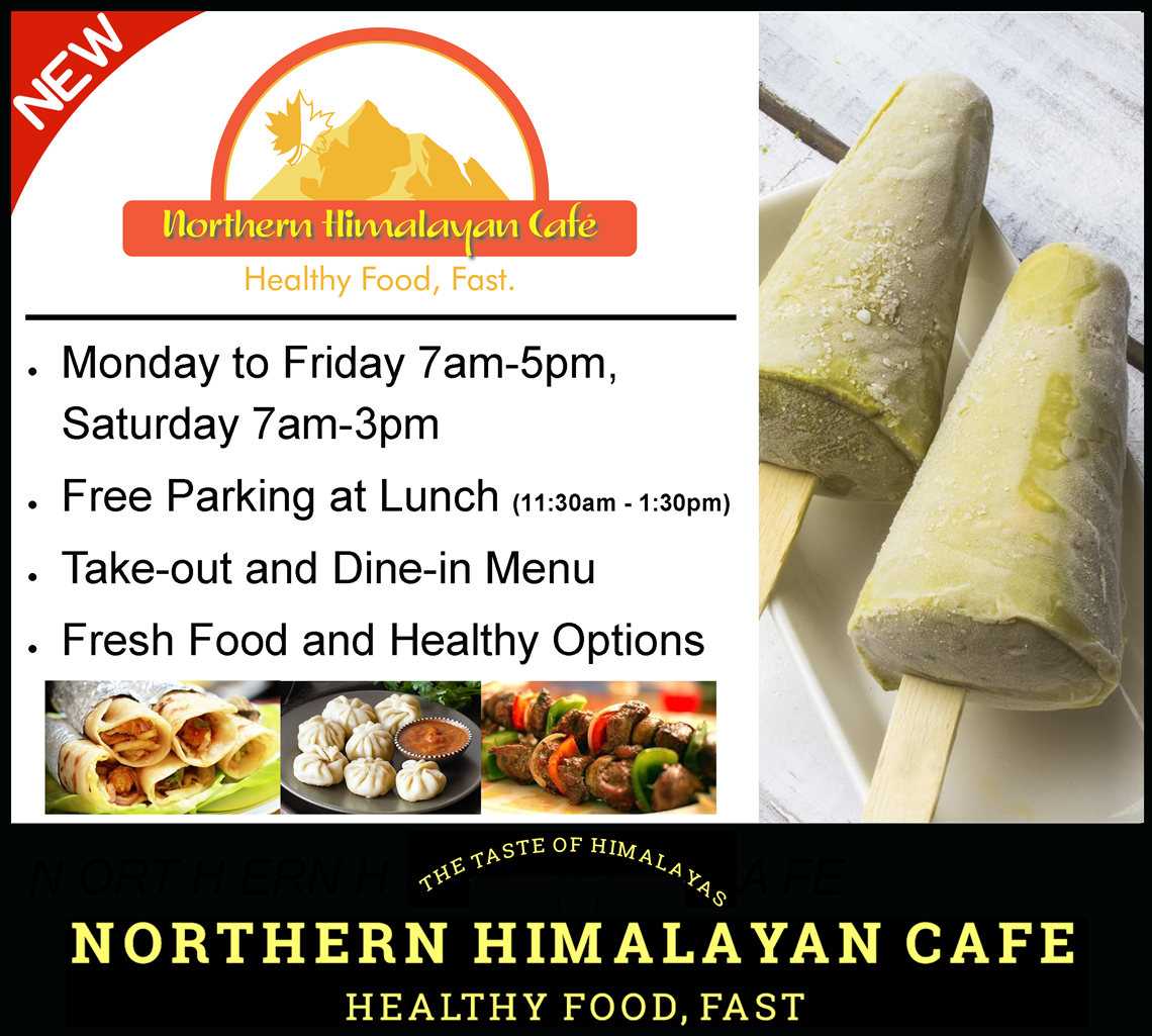 Northern Himalayan Café is now open in the Terminal.