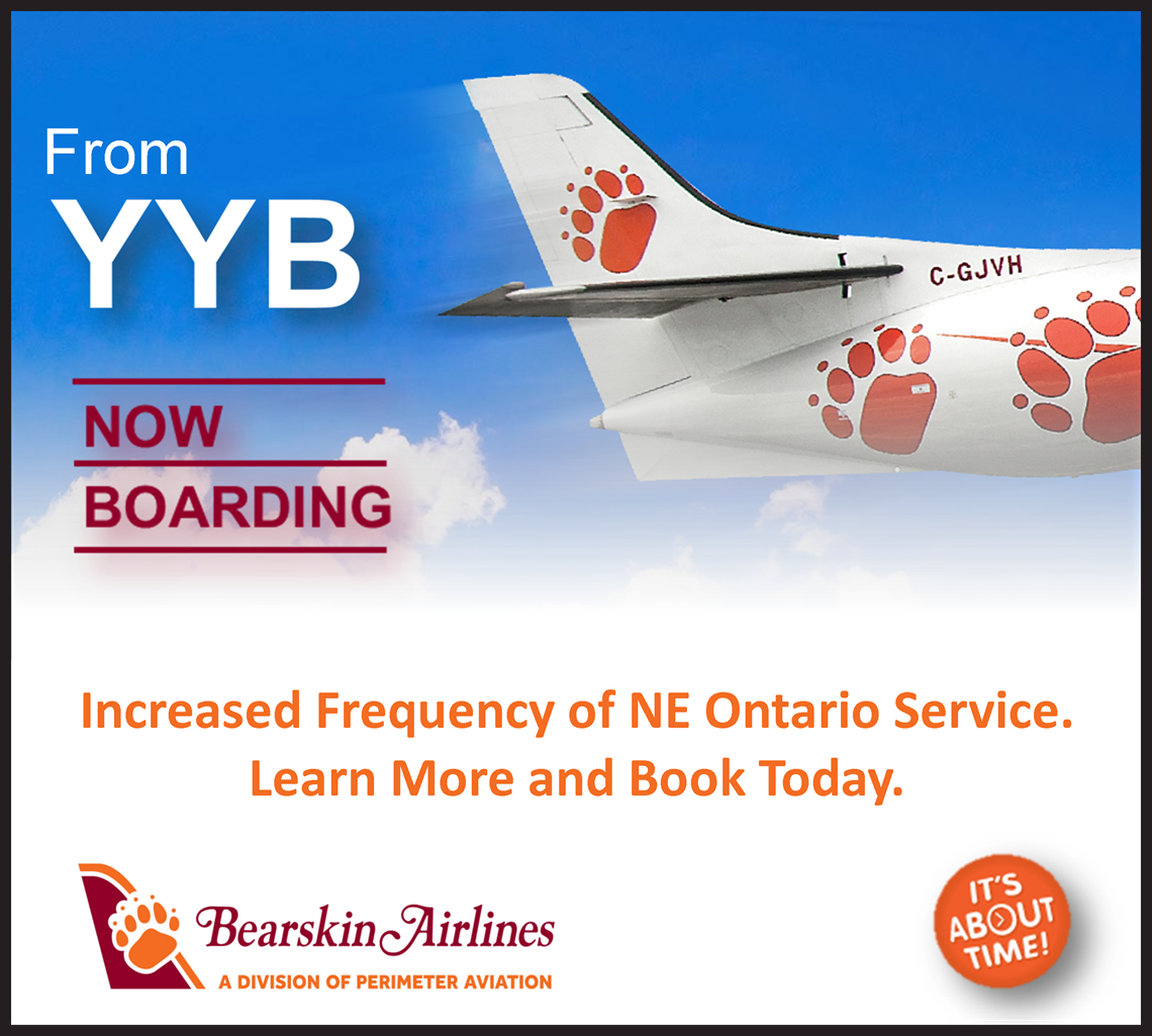 Bearskin Airlines Flying to and From North Bay.